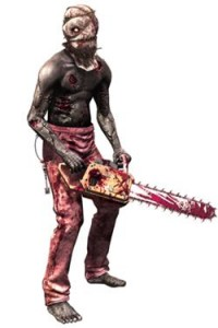 A chainsaw-wielding zombie from Resident Evil