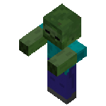 A zombie from Minecraft
